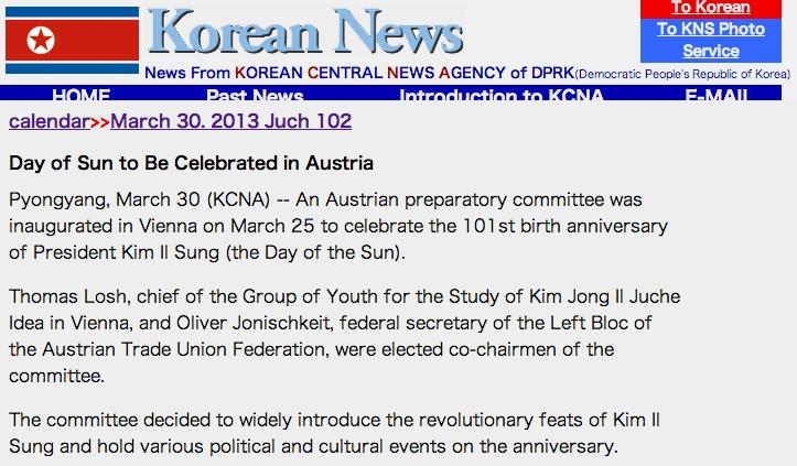 KCNA 30. März 2013